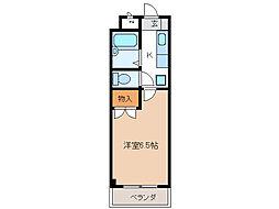 安田学研会館 東棟[3階]の間取り