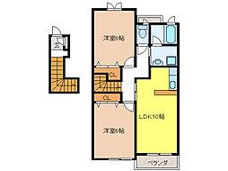 ガーデンフローラ[2階]の間取り
