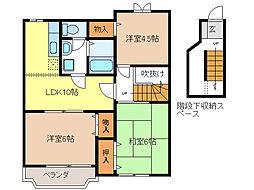 ボヌール C棟[2階]の間取り