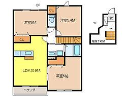 カームリーレジデンスII[2階]の間取り