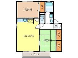 セジュールミキ E棟[2階]の間取り