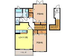 リッツL I[2階]の間取り