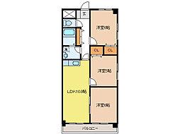 AvancerNagara[3階]の間取り