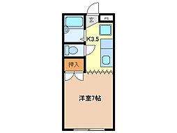 ラ・フォルテ柴田[3階]の間取り