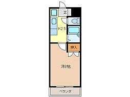 レスポワール中野[2階]の間取り