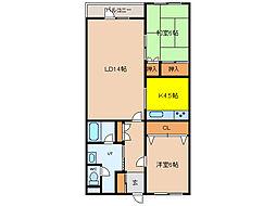 北海道函館市旭町の賃貸アパートの間取り