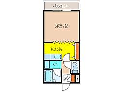 北海道函館市杉並町の賃貸マンションの間取り