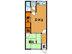 北海道函館市松陰町の賃貸アパートの間取り