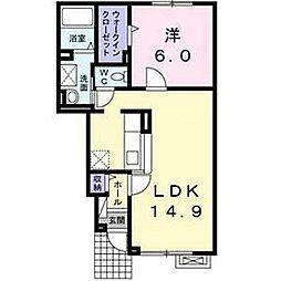北海道函館市榎本町の賃貸アパートの間取り