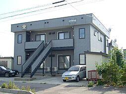 北海道函館市桔梗2丁目の賃貸アパートの外観