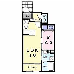 JR内房線 姉ヶ崎駅 徒歩15分の賃貸アパート 1階1LDKの間取り
