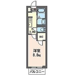JR内房線 五井駅 徒歩18分の賃貸マンション 1階1Kの間取り