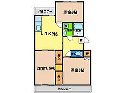 ハイツ福寿園2[2階]の間取り