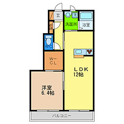 シャルマン高洲II[1階]の間取り