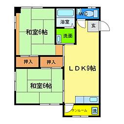 ワークレジデンス三原[2階]の間取り