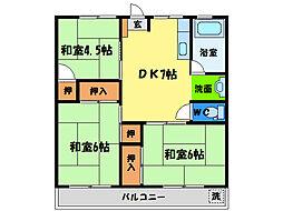 二本竹ビル[2階]の間取り