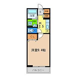 ツインコートA[2階]の間取り