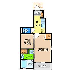 コーポ・サンピア[1階]の間取り