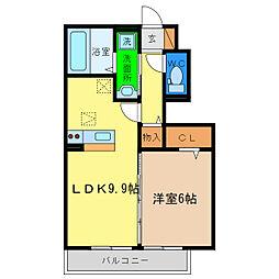 D−room本谷[1階]の間取り