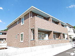 徳島県徳島市八万町柿谷の賃貸アパートの外観