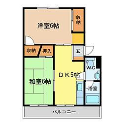 アンカーアパートメント[2階]の間取り