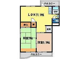 豊川コーポ[1階]の間取り