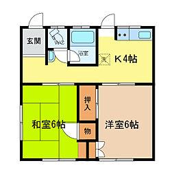 [一戸建] 徳島県徳島市八万町法花 の賃貸【/】の間取り