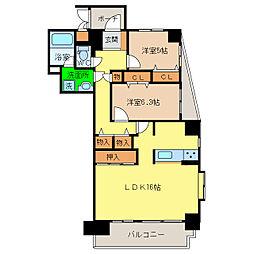 ファミール昭和町[10階]の間取り
