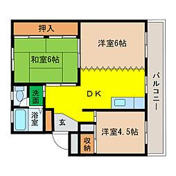 庄野ビル[1階]の間取り