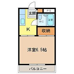 徳島県徳島市沖浜東3の賃貸マンションの間取り