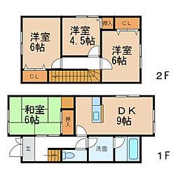 [一戸建] 和歌山県和歌山市園部 の賃貸【/】の間取り