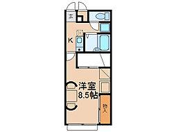 ソレイユ1番館[2階]の間取り