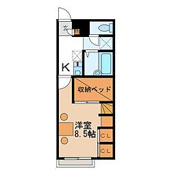 ソレイユ2番館[1階]の間取り