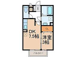 コンフィアンスB棟[2階]の間取り