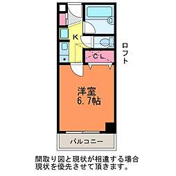 コーポラス万代[4階]の間取り