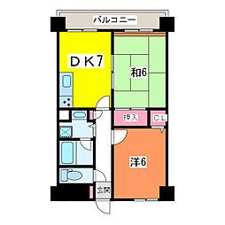 アークハイム新潟[9階]の間取り