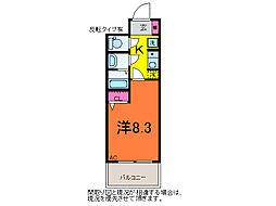 GEO東大通[2階]の間取り