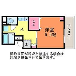 ゆうマンション[9階]の間取り