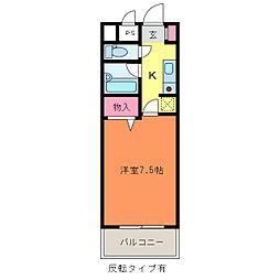 カナン花園[6階]の間取り