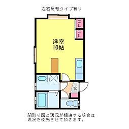 フレンド沼垂B棟[2階]の間取り