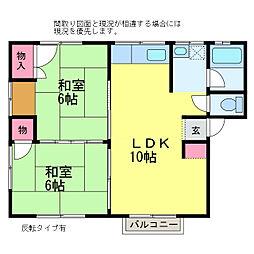 アーバン116[2階]の間取り
