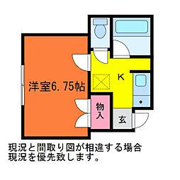 ブルーメB棟[1階]の間取り