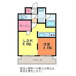 新潟県新潟市中央区川端町4丁目の賃貸マンションの間取り