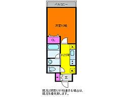 パークソレイユ新潟駅前3番館[4階]の間取り