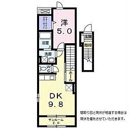 欅ガーデン[2階]の間取り