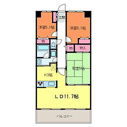 パストラルハイム米山弐番館1106[11階]の間取り