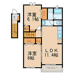 風琳館 II[2階]の間取り