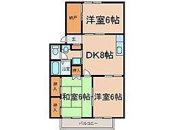 パークサイドナカシマ[1階]の間取り
