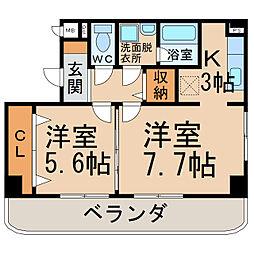 グランディアF中央[2階]の間取り