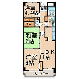 リバーサイド21[2階]の間取り